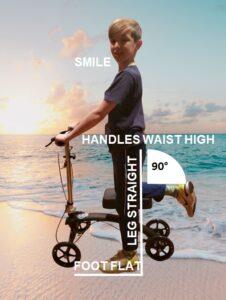 knee scooter adjustment